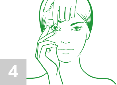 Step 4: How to put contact lenses in