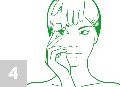 Step 4: How to remove contact lenses